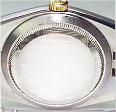 Boden einer Rolex-Armbanduhr